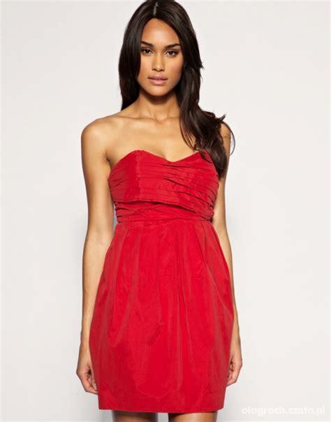 czerwona sukienka odkryte plecy asos 36 w suknie i sukienki szafa pl