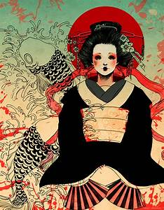 Geisha by Me-Ticha on DeviantArt
