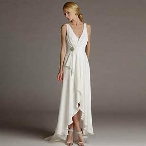 Empire Waist Bridal Gown Wedding Dress Plus Size Beach ...