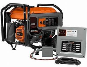 Generac Generator Homelink 6500e  6 500 Running Watts  Gas Portable Generator W   Upgradeable