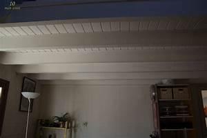 les poutres et le plafond ou l39achevement de la mezzanine With peindre un plafond avec des poutres 2 les poutres et le plafond ou lachavement de la mezzanine