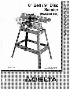 Delta 31  9 U0026quot  Disc Sander Instruction Manual