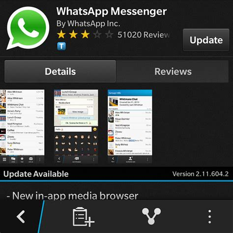 whatsapp update blackberry forums at crackberry