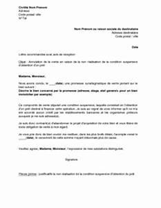 Documents Pour Compromis De Vente : lettre d 39 annulation d 39 un compromis de vente pour condition suspensive d 39 obtention d 39 un pr t non ~ Gottalentnigeria.com Avis de Voitures