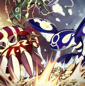 Primal Groudon, Primal Kyogre, and Mega Rayquaza | Pokemon ...