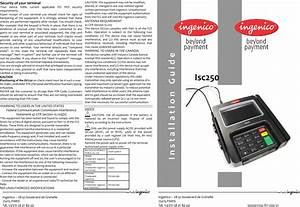 Ingenico Isc250newcl Payment Terminal User Manual Manual