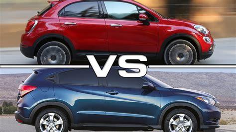 2016 Fiat 500X vs 2016 Honda HR-V - YouTube
