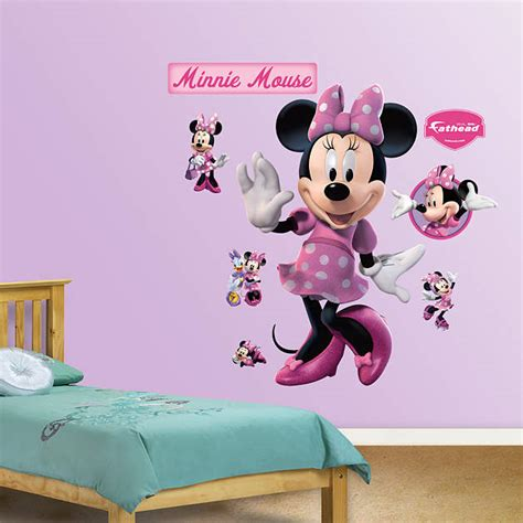 minnie mouse room decorations walmart minnie mouse wall decal shop fathead 174 for mickey mouse decor