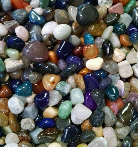 100 130 colorful mixed assorted bulk tumbled gem mix 1lb lot ebay