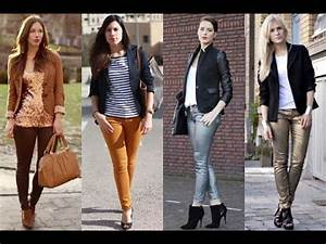 How to dress up skinny jeans for work - YouTube