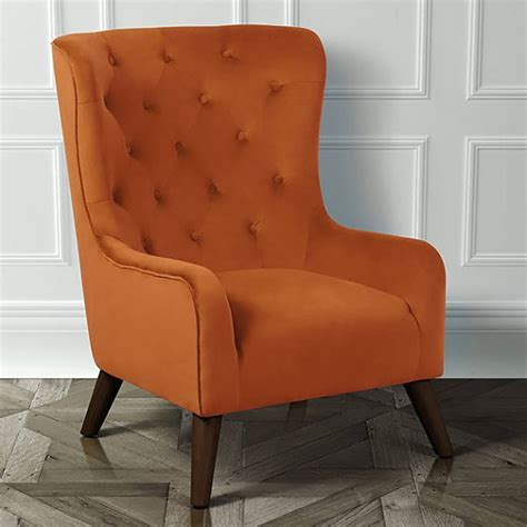 Back Armchair by Classic Velvet Button Back Armchair By I Retro