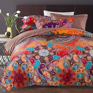 Rust, Orange, Purple, And, Blue, Vintage, Boho, Style, Tribal