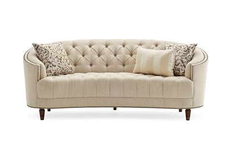 Curved Loveseat Sofa by Darby Home Co Frederic Tufted Curved Sofa Reviews Wayfair