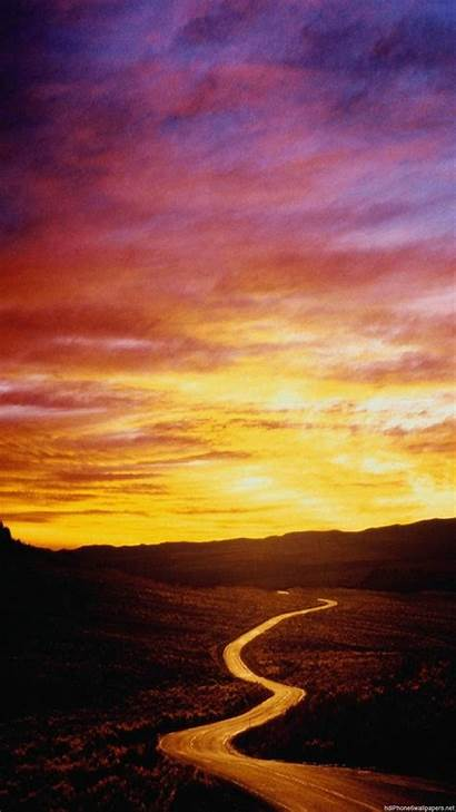 Wallpapers 1080p Vertical Road Iphone Sunset 1080