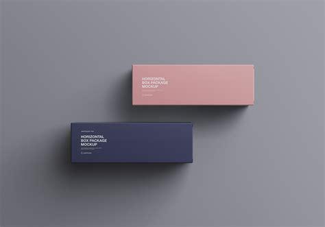 horizontal package box mockup