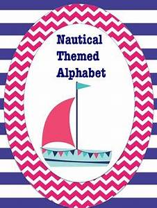 nautical themed alphabet pink and blue by teaching with With nautical themed alphabet letters