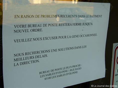 le bureau le havre le bureau de poste d olonne fermé pour raisons sanitaires