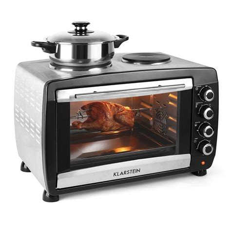 Mini Convection Oven Hob Cooker Counter Top Rotisserie