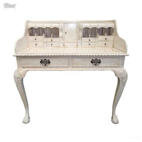 writing desk chippendale ladies escritoire antique white reproduction antique reproduction shop