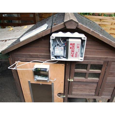 kit portier solaire automatique de poulailler