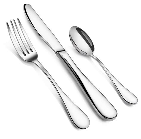 silverware sets flatware piece dinner forks value spoons order rain