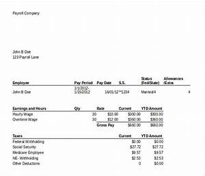 pay stub template 25 free samples examples formats With free online paystub template