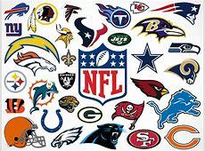 National Football League Team Vector Logos • Market Your