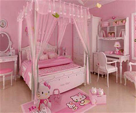 pink girly bedrooms pink decor collection 12869 | pale pink hello kitty bedroom mygirlyroom