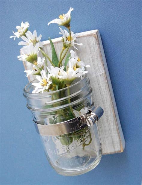 shabby chic glass jars french cottage shabby chic wall vase glass jar cottage decor handmade 22 00 via etsy to