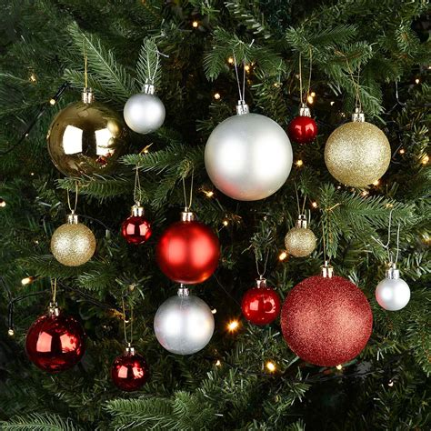 baubles on christmas tree christow 106 assorted tree bauble box this is it stores uk