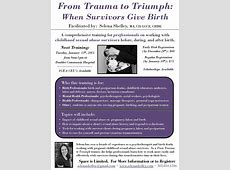 Training From Trauma to Triumph When Survivors Give