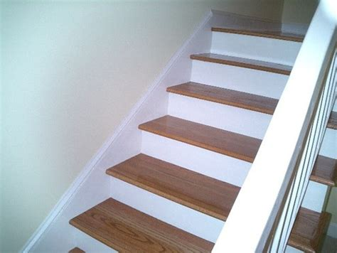 pergo stair treads laminate stair tread kits replaced the carpet on our stairs with wood wood stair treads