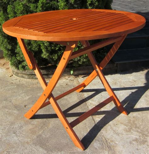 outdoor furniture tables only hardwood wooden folding round garden table folding wood