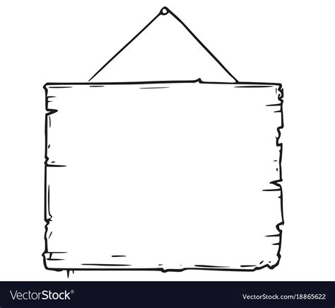 empty blank sign board drawing royalty  vector image
