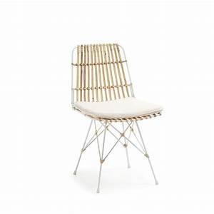 Chaise Rotin Et Metal : chaise en rotin scandinave by drawer ~ Teatrodelosmanantiales.com Idées de Décoration