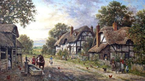 Hd Thatched Cottage Village Wallpaper Musings