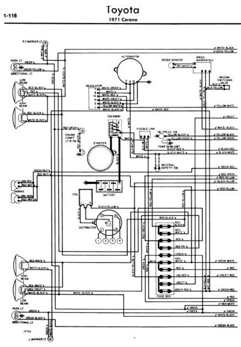 repair manuals toyota corona 1971 wiring diagrams