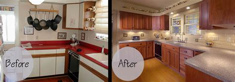 resurface kitchen cabinets before and after cabinet refacing gallery wheeler brothers construction 9243