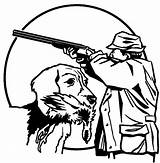 Hunting Coloring Pages Deer Duck Dog Dogs Drawing Bow Sheets Drawings Hunter Trained Gun Shooting Printable Bar Getdrawings Getcolorings Going sketch template