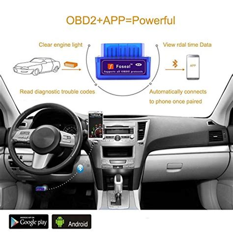 check engine light diagnostic tool bluetooth adaptor foseal bluetooth obd2 obd scanner check