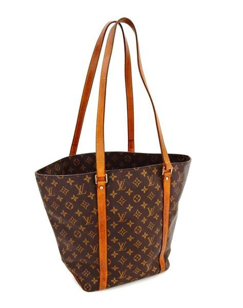 louis vuitton sac shopping rare vintage brown monogram