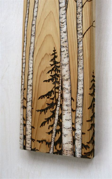 birch trees wood burning by birch trees block wood burning awesome grains and charms