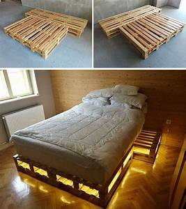 Amazing Ideas Of Wooden Pallet Bed With Storage Pallet Idea