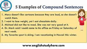 5 Examples Of Compound Sentences