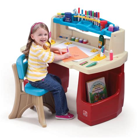 Toddler Desk With Storage by Desk Set Deluxe Playroom Activity Craft Storage