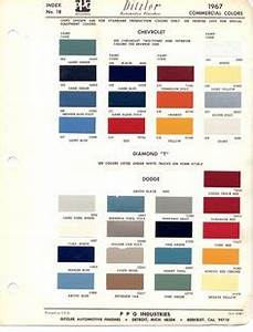 1970 Chevrolet Truck Paint Codes
