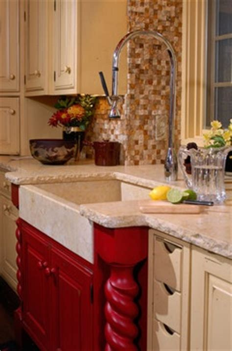 kitchen sinks base cabinet with a farmhouse sink details