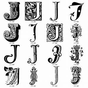 decorative letters j initials pinterest With decrative letters