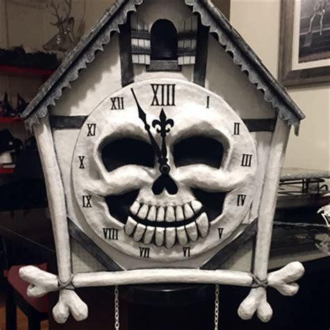 cuckoo clock skull mask mardi gras  part
