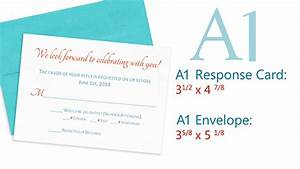 standard sizes for wedding response cards envelopes With wedding invitation response card envelope size